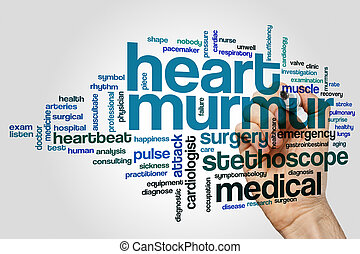 Heart murmur word cloud - Heart murmur word cloud concept on...
