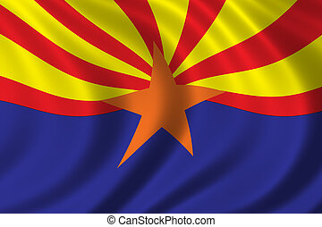 Flag of Arizona waving in the wind