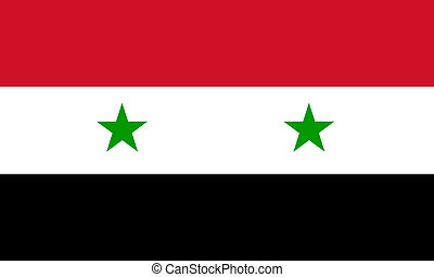 flat syrian flag