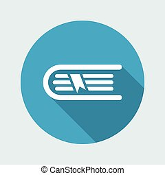 Book icon - Minimal vector icon