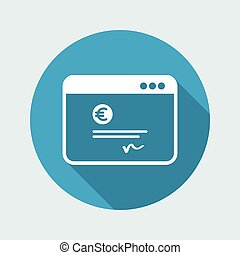 Financial document - Euro - Vector flat icon
