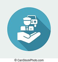 Chauffeur service - Minimal icon