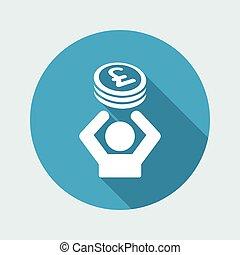 Financial help - Vector web icon