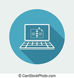 Book online - Vector flat icon