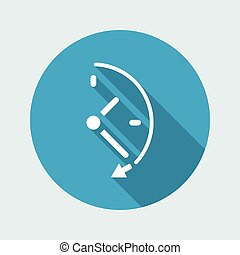 Spending time concept - Vector web icon