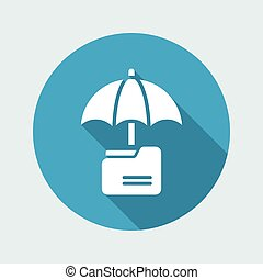 Secure folder - Minimal vector icon