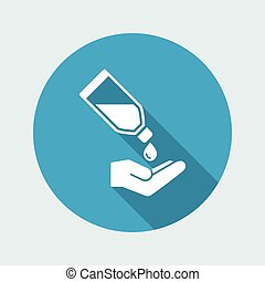 Liquid for hands - Vector flat icon