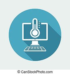 Computer temperature - Vector web icon