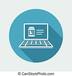 Online drugstore - Vector flat icon