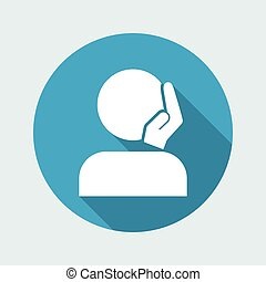 Caressing gesture - Vector minimal icon