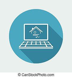 House certification - Vector icon of computer application