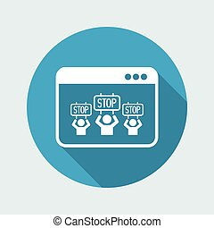 """Stop"" crowd - Vector icon for computer website or..."