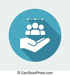 Service offer - Workgroup team - Minimal icon