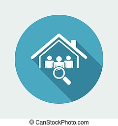 Candidates search - Vector web icon