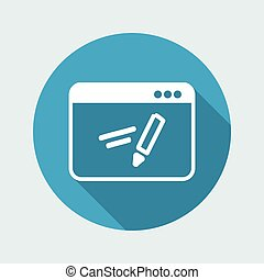 Application for handwrite - Vector flat icon