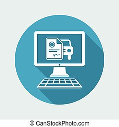 Automotive online document - Sterling - Vector flat icon