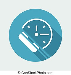 Steady phone support - Vector web icon