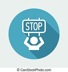 Protest for the stop - Vector web icon