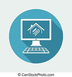 Library or school concept - Vector icon for computer website...