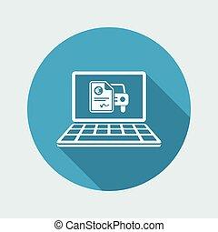 Automotive online quote - Euro - Vector flat icon
