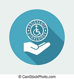 Disability support services - Minimal icon