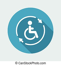 Steady handicapped assistance service - Vector web icon