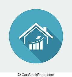 Real estate business trends - Vector web icon