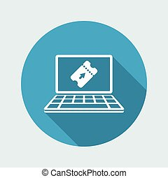 Online booking - Vector icon for computer website or application