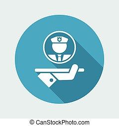 Security service - Vector web icon