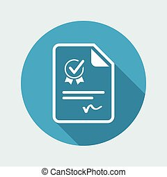 Official certificate document - Vector web icon