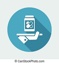 Pharma services - Vector web icon