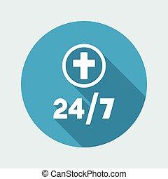 Religious services 24/7 - Vector web icon