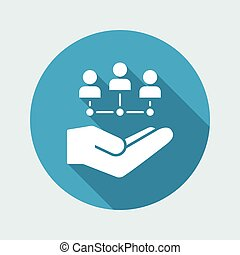 Workgroup network - Minimal vector icon