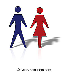 Coupling - A male and female figure