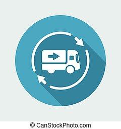 Delivery service 24/7 - Vector web icon