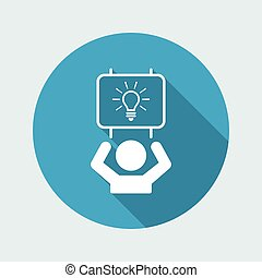Suggest clever idea - Vector web icon