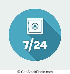 Strongbox service 7/24 - Vector web icon