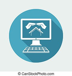 Living protection - Vector icon for computer website or...