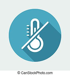 Overheating prevenction system - Vector web icon