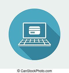 Online banking services - Vector web icon