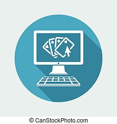 Poker online - Vector flat icon