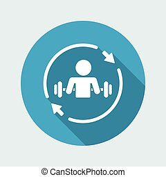 Body building training - Vector web icon