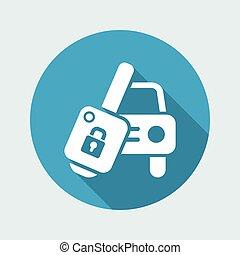 Car key - Vector icon
