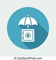 Secure strongbox - Minimal vector icon