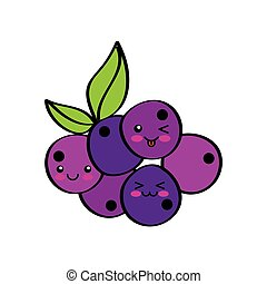 kawaii fruits design
