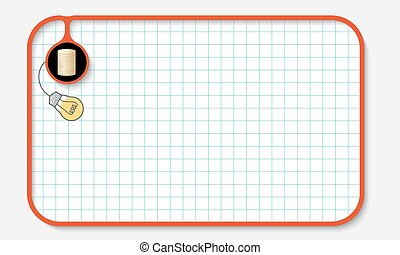 Text box for fill your text with graph paper and golden coin