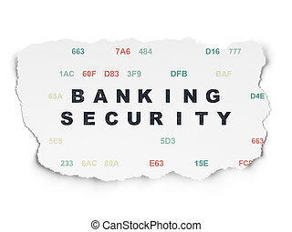 Security concept: Banking Security on Torn Paper background...