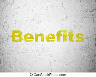 Business concept: Benefits on wall background