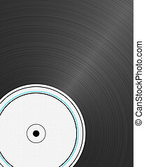 Vinyl Record - closeup view of a vinyl record with empty...