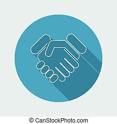 Handshake icon - Thin series